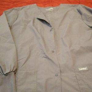 Grey Landau lab coat